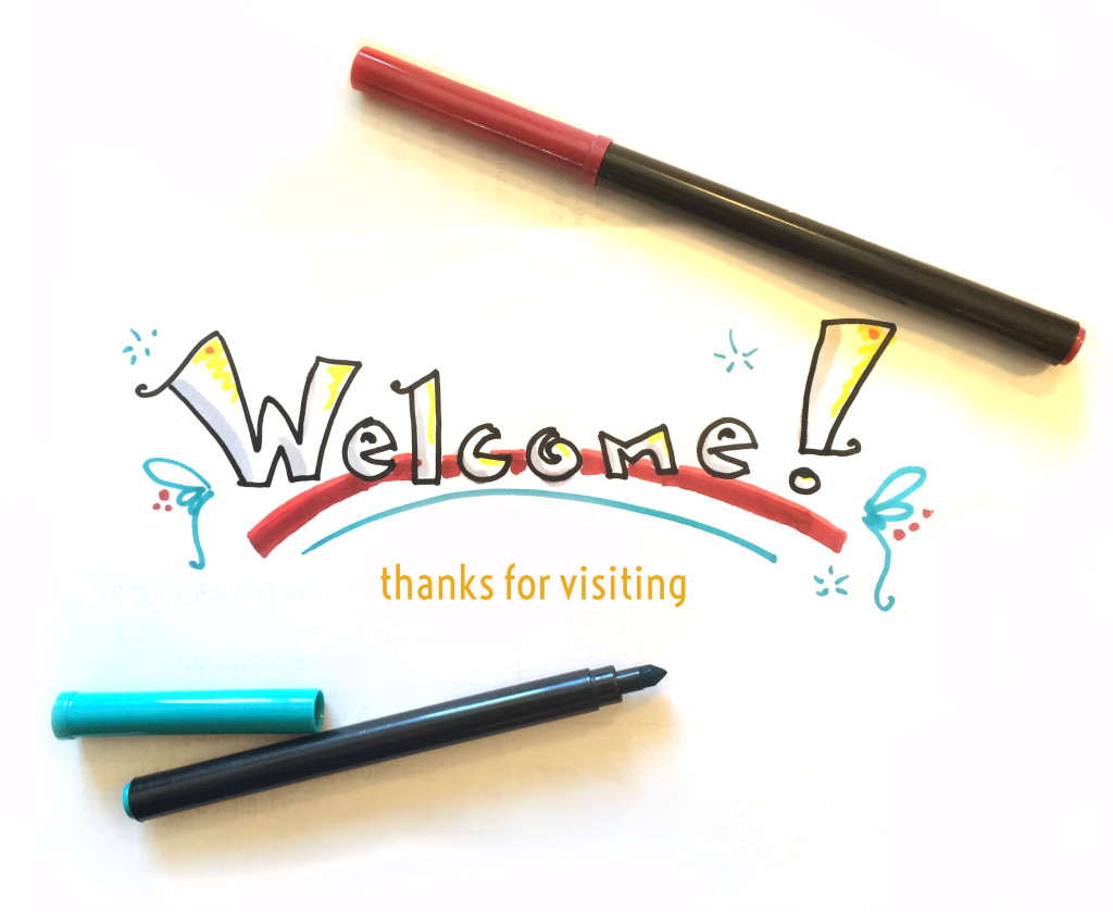 Welcome Graphic Handrwawn