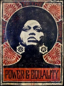 """""""Power & Equality"""" by Shepard Fairey"""