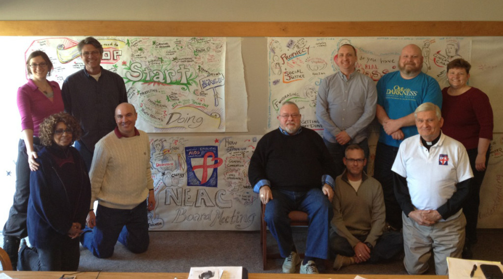 Me with the National Episcopal Aids Coalition Board after illustrating their retreat